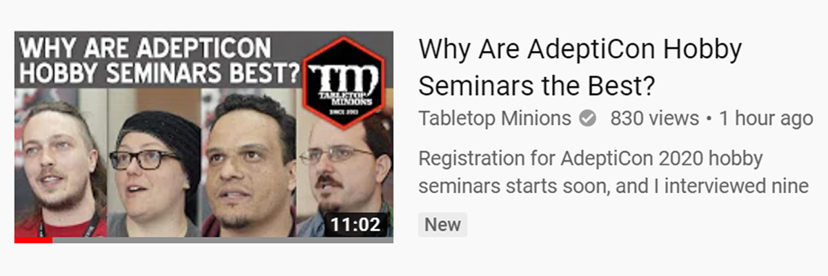 Tabletop Minions: Why Are AdeptiCon Hobby Seminars the Best?